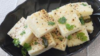 Idla - Idra - White Dhokla - Famous Gujarati Farsan Recipe - Priya R - Magic of Indian Rasoi