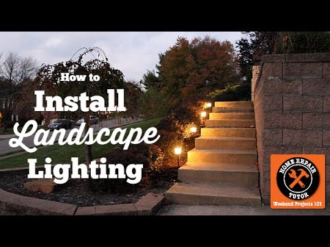 Installing Outdoor Landscape Lighting (EASY!!) -- by Home Repair Tutor