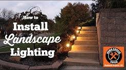 Installing Outdoor Landscape Lighting (EASY!!) -- by Home Repair Tutor