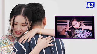 """*SUB* SUNMI surprises her fans during a """"pporappippam(보라빛 밤)"""" reaction video💜"""