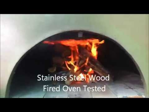 DIY Stainless Steel Wood Fired Pizza Oven Tested