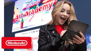 Disney Art Academy - Sabrina Carpenter at Nintendo NY