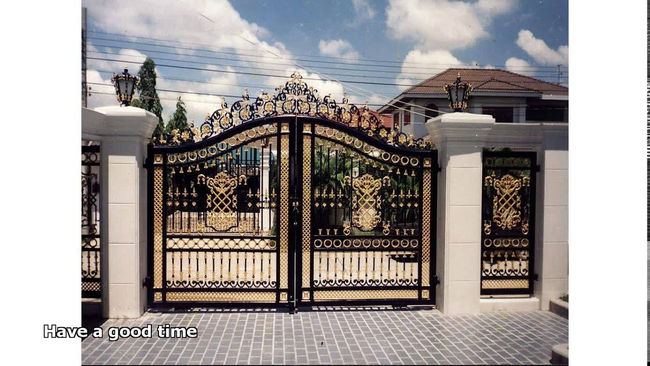 Steel gates design youtube Metal gate designs images