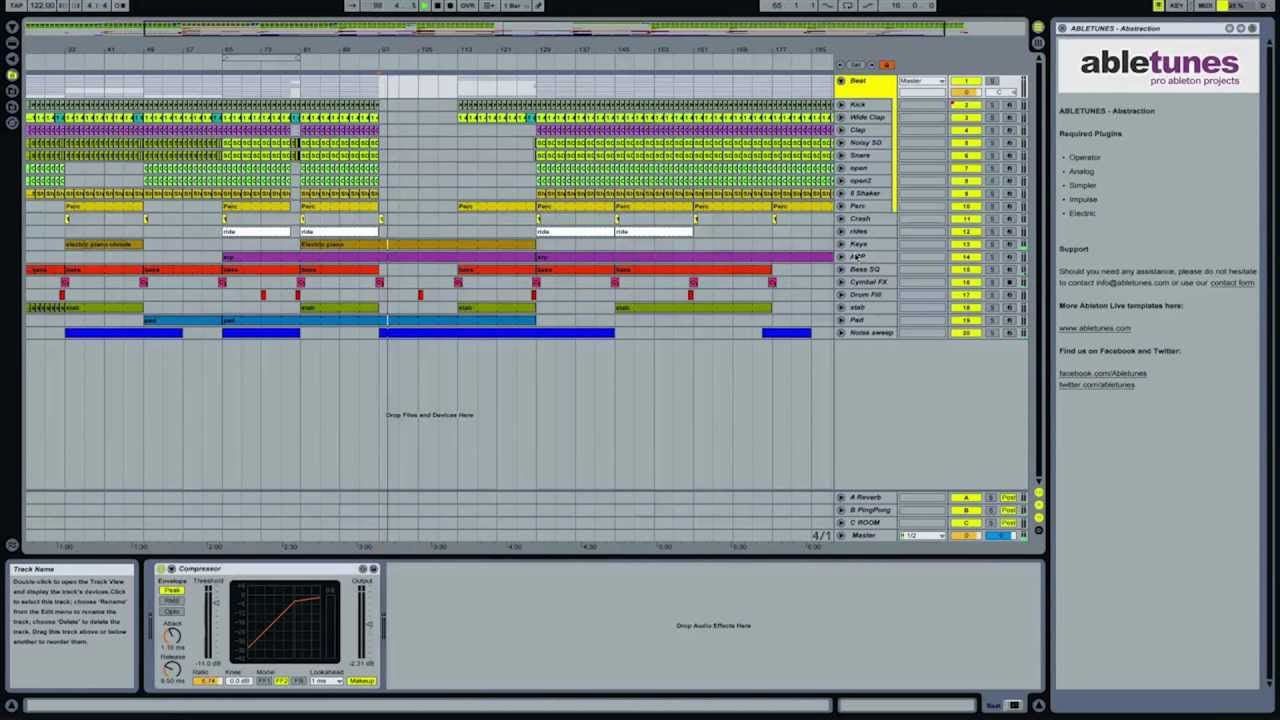 Проект Abletunes Let Me Fall Ableton Live Template
