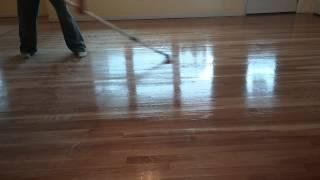 Hardwood Floor. Sanding Polyurethane Technique