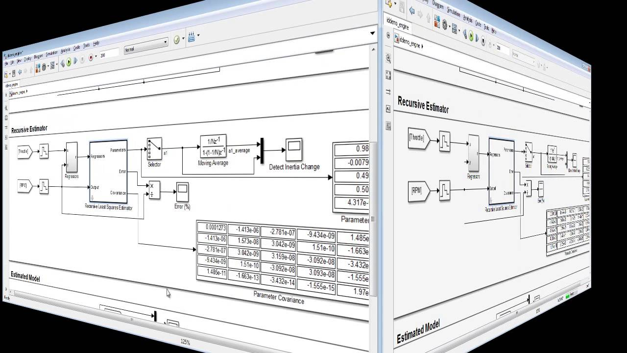 Online Parameter Estimation with Simulink