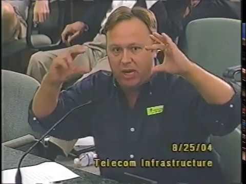 Alex Jones talks at the Telecom Meeting (2004)