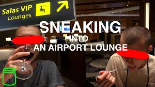 Sneaking into a VIP Airport Lounge