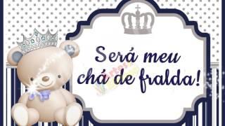 Convite Animado Tema Chá De Fralda Ursinho Príncipe Artes E