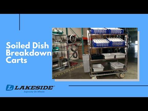 Lakeside - Soiled Dish Breakdown Carts