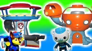 "Paw Patrol & Octonauts Parody ""share Paw Patrol Look Out Station & Octopod Toys"" Parody Toy Video"