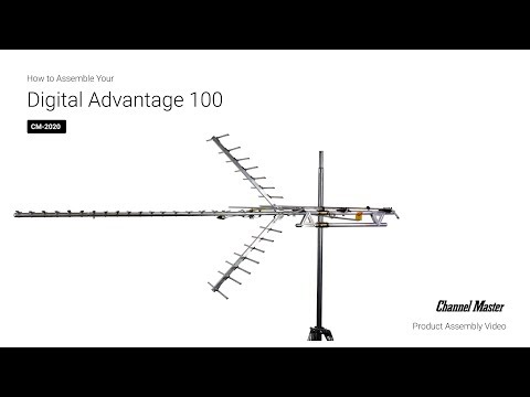 Channel Master | How To Assemble The Digital Advantage 100 Outdoor TV Antenna [CM-2020]
