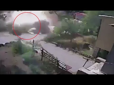 RAW: Ukrainian army bombing caught on CCTV