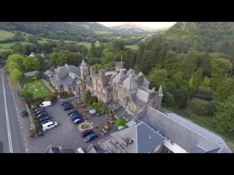 Craig Y Nos Castle  -  From the Sky - See the sights