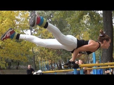 Street Workout Motivation in Ukraine - Amazing Female Workout