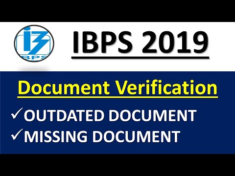 WHAT HAPPENS IF MISSING OR OUTDATED DOCUMENT IN DV|| IBPS 2019 JOINING FORMALITIES