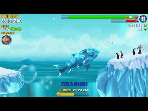 Hungry Shark Evolution Ice Shark Android Gameplay #35