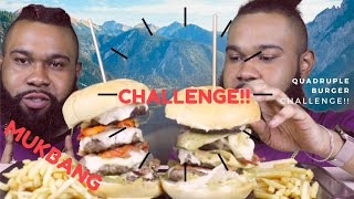 QUADRUPLE BURGER CHALLENGE| 사분면 버거 챌린지