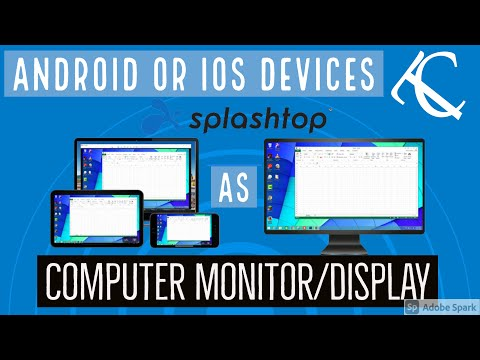 Use Your Android & Iphone as Computer Display or Monitor (Splashtop Wired XDisplay)
