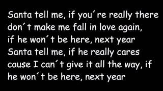 Santa Tell Me (Lyrics) - Ariana Grande