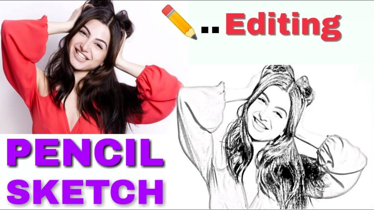 Pencil sketch photo editor sketch photo maker hindi