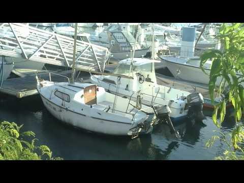 Bateaux au Port de Plaisance du Port Ouest,Île de la Réunion.