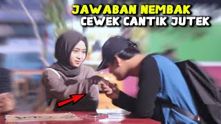 Bikin Baper !! JAWABAN PRANK NEMBAK WANITA CANTIK SUPER JUTEK GAK DIKENAL PART 2 - Prank Indonesia