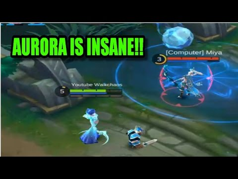 Mobile Legends: NEW HERO AURORA FIRST GAMEPLAY!! (Insane)