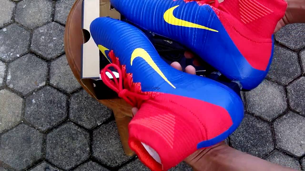 Sepatu Bola Nike ID Mercurial Superfly FG Blue Red Yellow Barcelona  Unboxing - YouTube a3bf1a3283