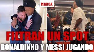 Para nostalgicos: se filtra un vídeo con Messi y Ronaldinho jugando juntos para un spot I MARCA