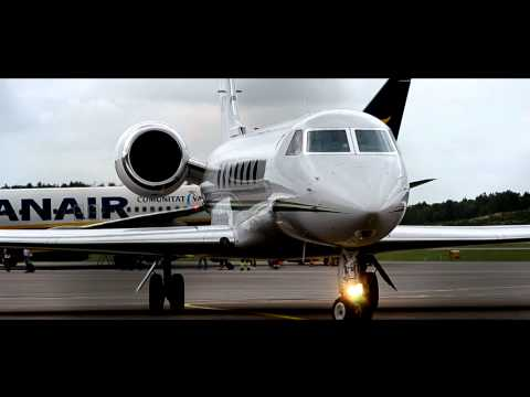 Gulfstream G550 Start up At Gothenburg City Airport (HD)