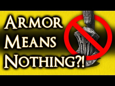 DARK SOULS 3 - WHY ARMOR MEANS NOTHING (almost) AND HOW DEFENSE *REALLY* WORKS!
