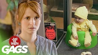 Funny Video – Babies On Sale & Crazy Game Buzzer Prank