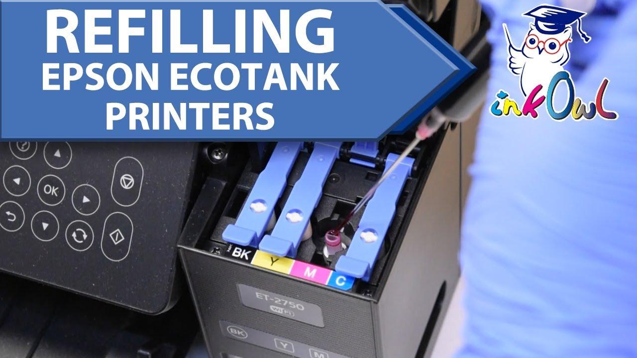 How to Refill EPSON EcoTank Printers