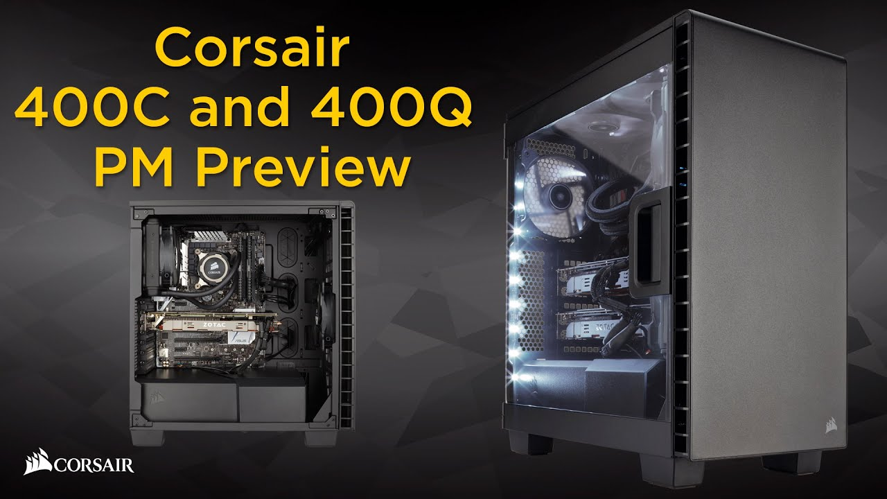 big sale 00bce 32f32 Corsair Carbide Clear 400C and Carbide Quiet 400Q PC cases: product manager  preview