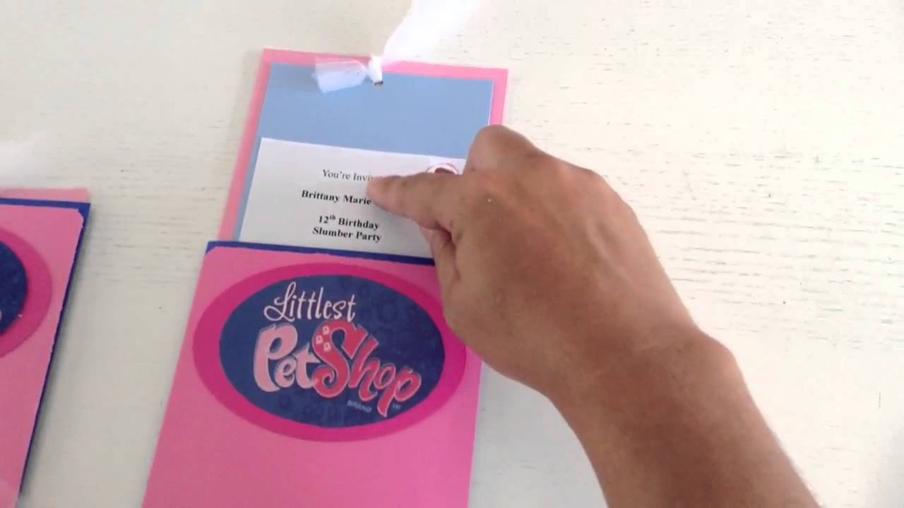 Littlest pet shop handmade invitations YouTube