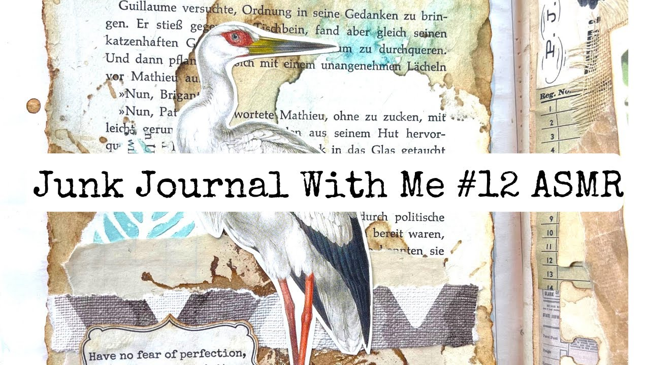 Junk Journal With Me ASMR #12 Paper Sounds/no Music/no Talking
