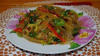"""Салат """"Лапи"""" (拉皮, Lā pí, 凉拌拉皮, liángbàn lā pí). Китайская кухня."""
