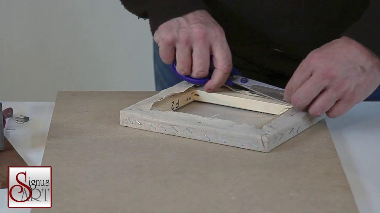 Comment Encadrer Une Toile comment fixer une toile brute sur un châssis