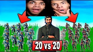 20 VS 20 RASUR IN FORTNITE! | Fortnite Battle Royale | PrankBrosGames