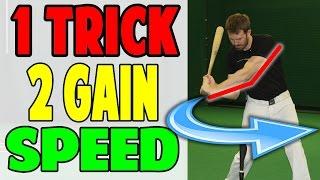 instantly gain bat speed   leveraged lead arm   baseball hitting drill pro speed baseball