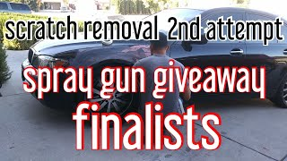 Spray gun giveaway finalists & copart bmw 750i scratches