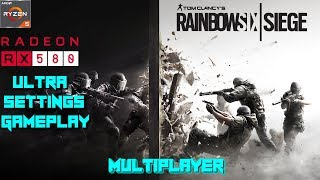 Rainbow Six Siege PC Multiplayer Ultra Settings Gameplay Test - Ryzen 5 1400 + RX 580 4GB