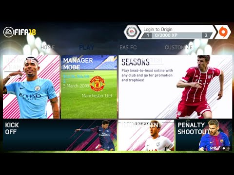 FIFA 14 Mod FIFA 18 Android Offline New Menu Best Graphics