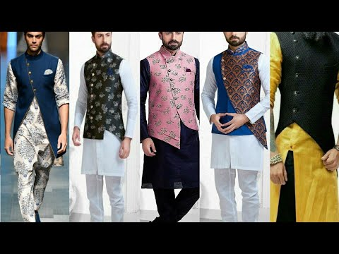 Men waistcoat design 2019 |kurta dhoti with jacket designs for men