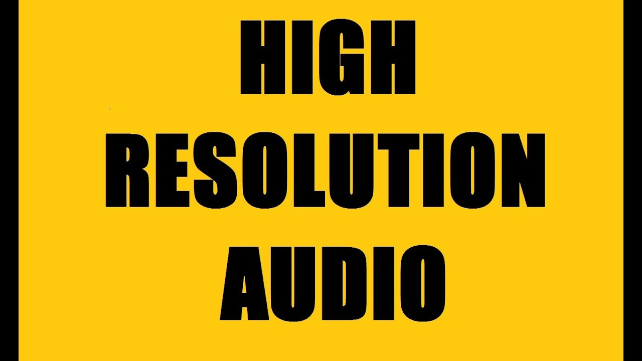 High Resolution Audio Formats - FLAC, ALAC, WAV, AIFF, DSD - 24 ...