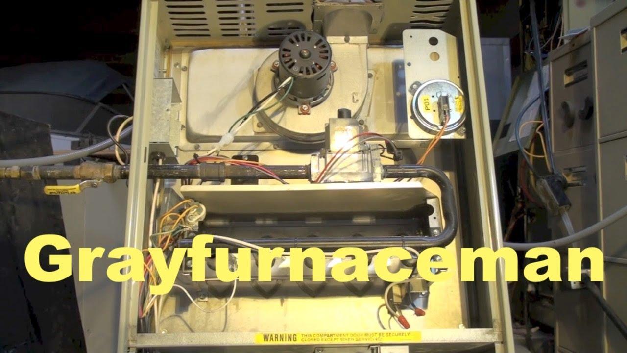 Gas furnace, inducer won't start - YouTube