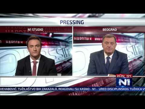 Razlika između gostovanja Milorada Dodika na sarajevskoj i beogradskoj televiziji