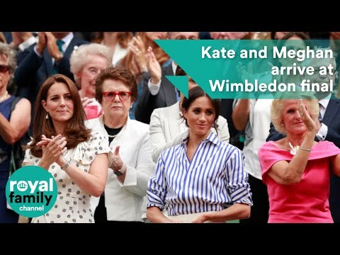 Kate and Meghan arrive to watch women's final at Wimbledon
