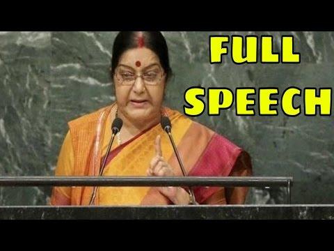 Sushma Swaraj at UN General Assembly - Full Speech
